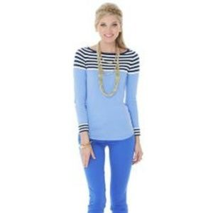 Lilly Pulitzer Maria Boatneck Striped Sweater